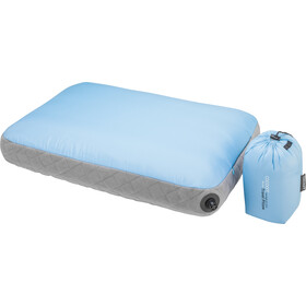 Cocoon Air Core Kussen Ultralicht, light-blue/grey
